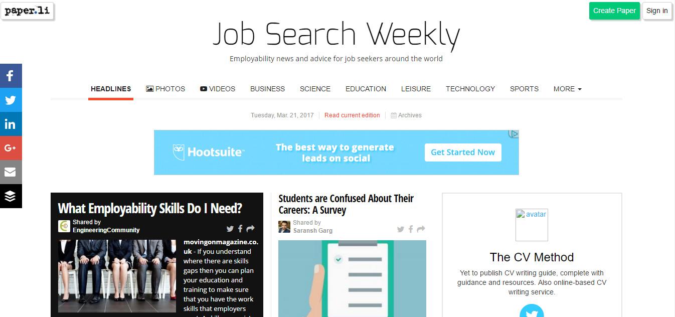 job search weekly 21 03 17 the cv method
