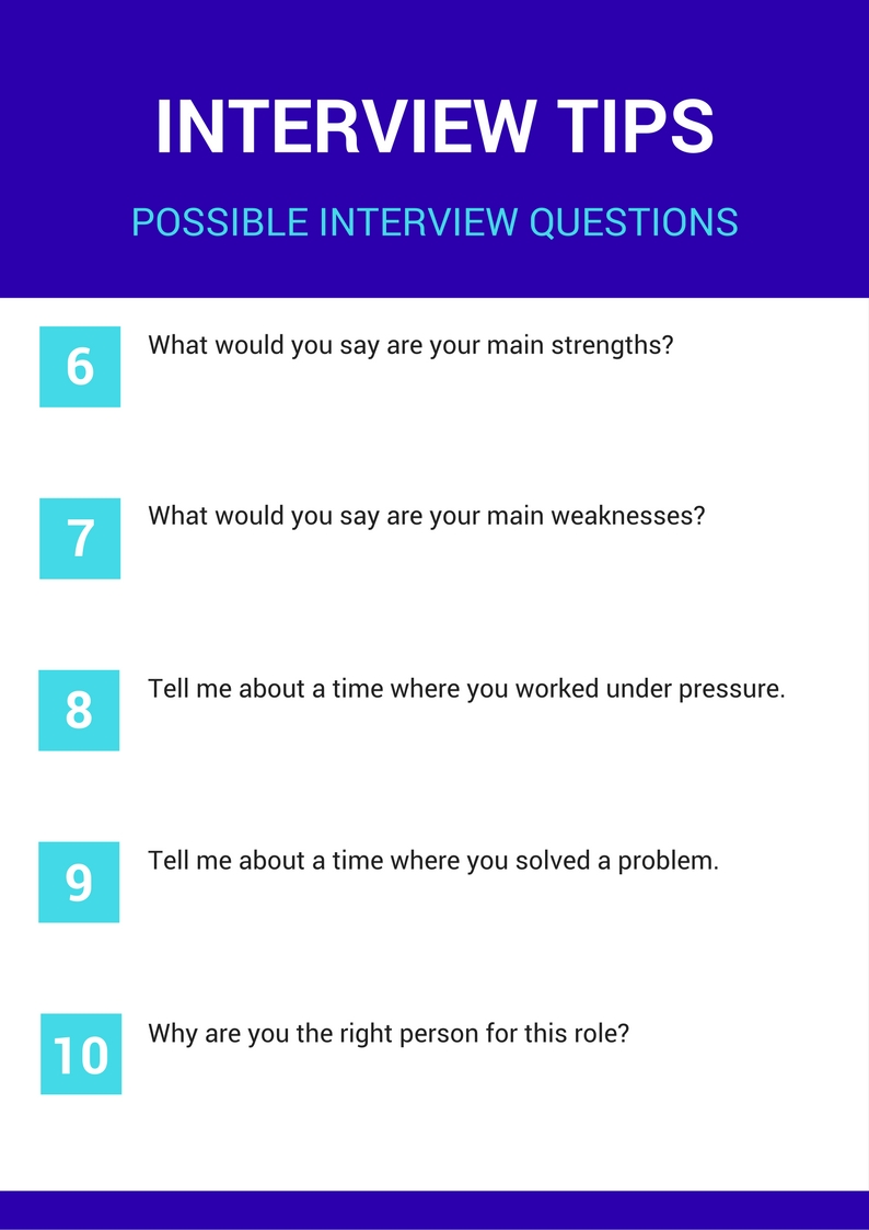 Interview Tips - Possible Interview Questions (1)