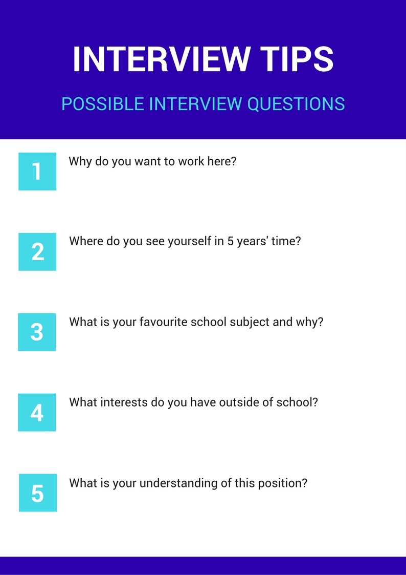 Interview Tips - Possible Interview Questions