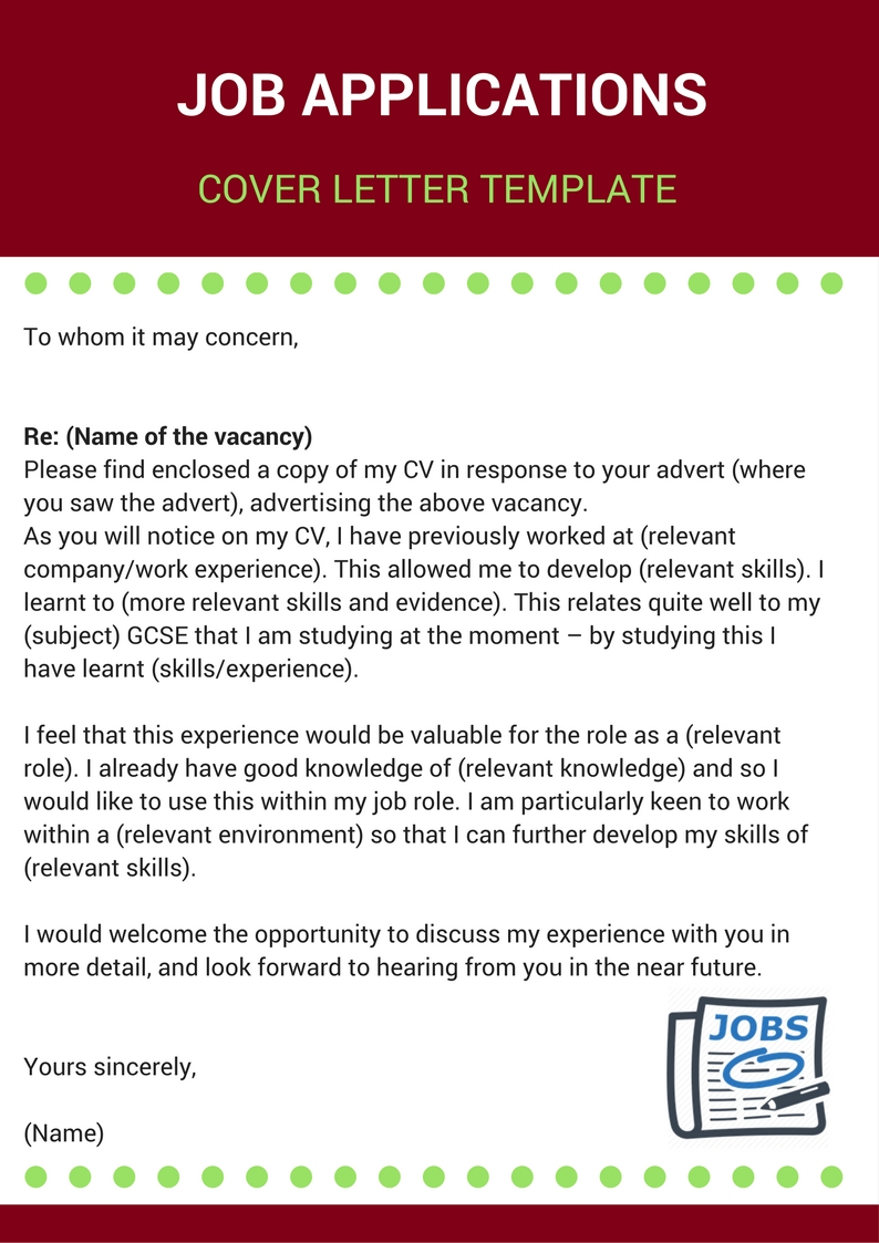 Job Applications - Cover Letter Template